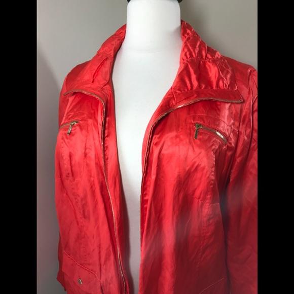 29d61bcc Laura Ashley Jackets & Coats   Orange Laura Ashely Windbreaker Sz 3x ...
